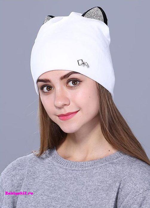 Двойная велюровая шапка