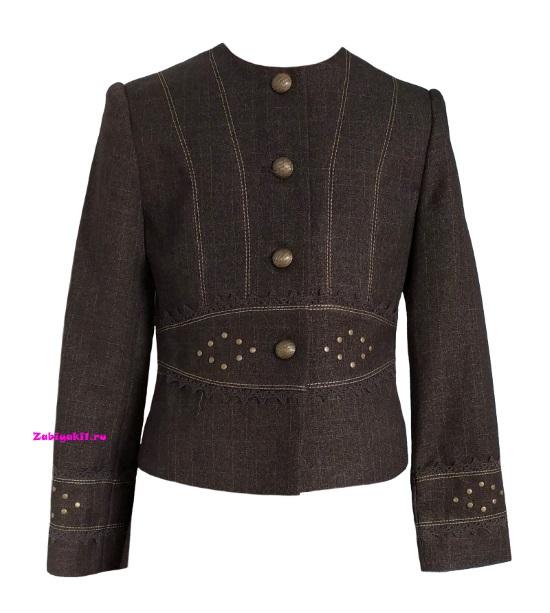 Пиджак на пуговицах для девочек Милашка Сьюзи