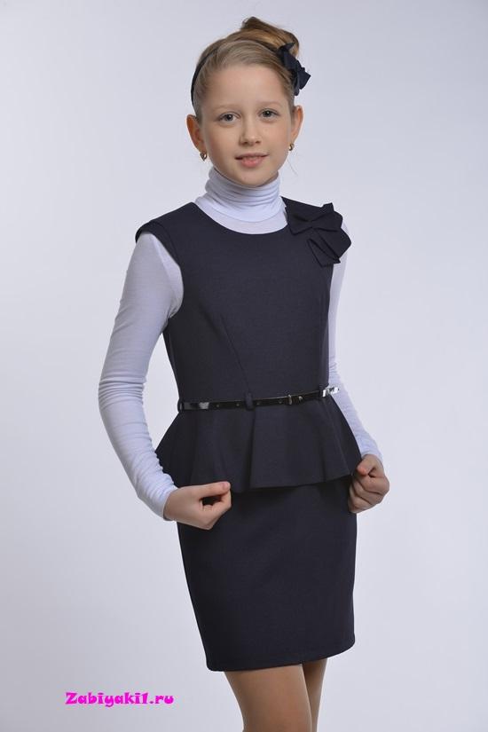 Сарафан для девочки с прямой юбкой Гермиона