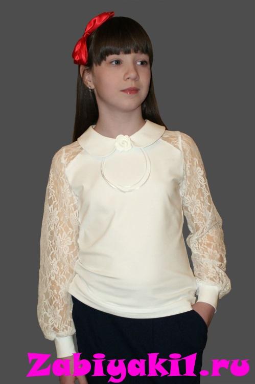 Нарядная блузка для девочки с розочкой для девочки, Mattiel