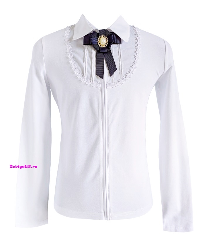 Блузка на молнии для девочек в школу,Deloras