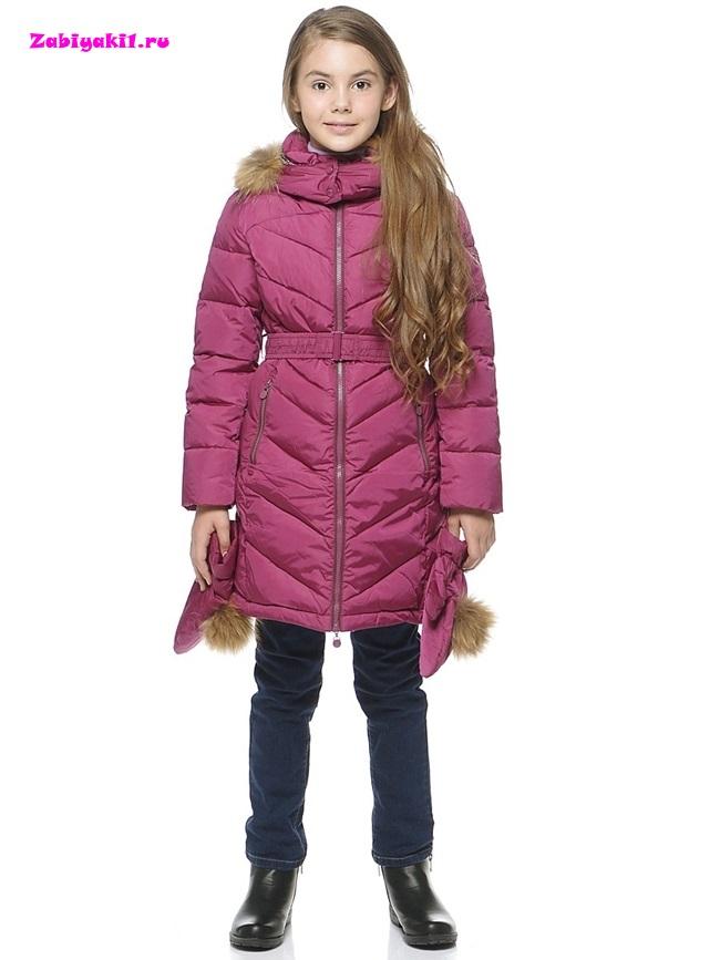 Купить пальто с варежками для девочки от Snowimage в интернет-магазине Забияки, арт.V713