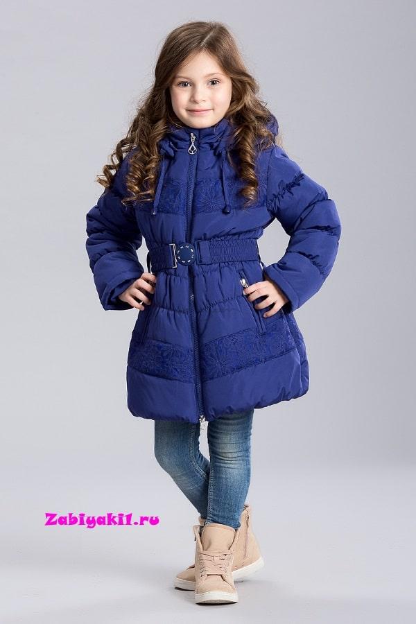 Пальто с кружевом для девочки BILEMI