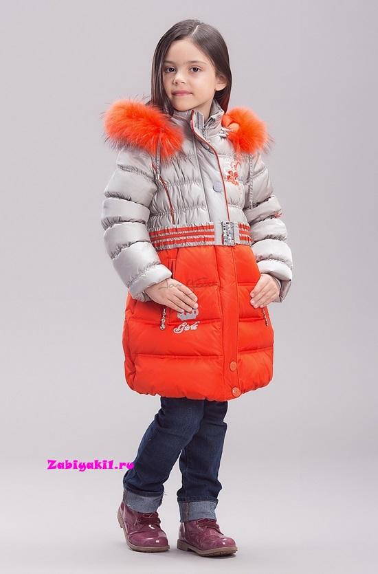 Зимнее пальто для девочки Steen Age