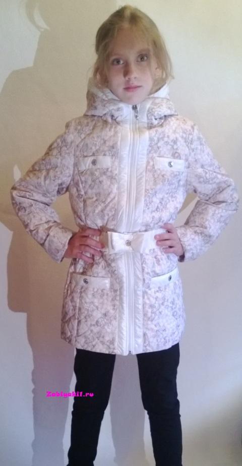 Прекрасная удлиненная куртка с абстрактными цветами на весну для девочек 8-9-10-11-12-13-14-15 лет, Россия