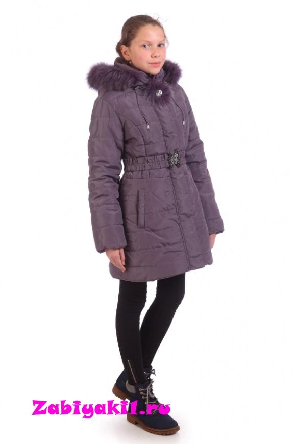 Нежное зимнее полупальто для девочек подростков,Malinoffka