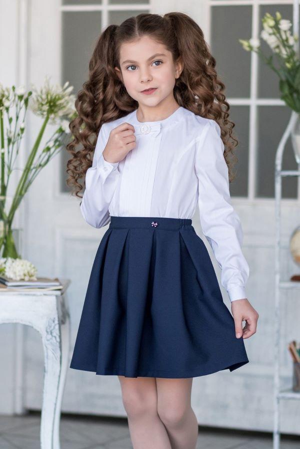 Синие школьные юбки для девочек